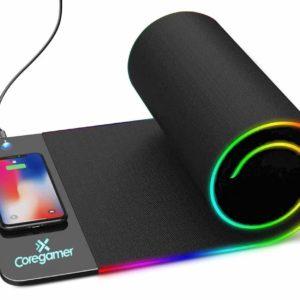 """Portamouse Gaming XL con carga inalambrica de Celular """"CoreGamer"""""""